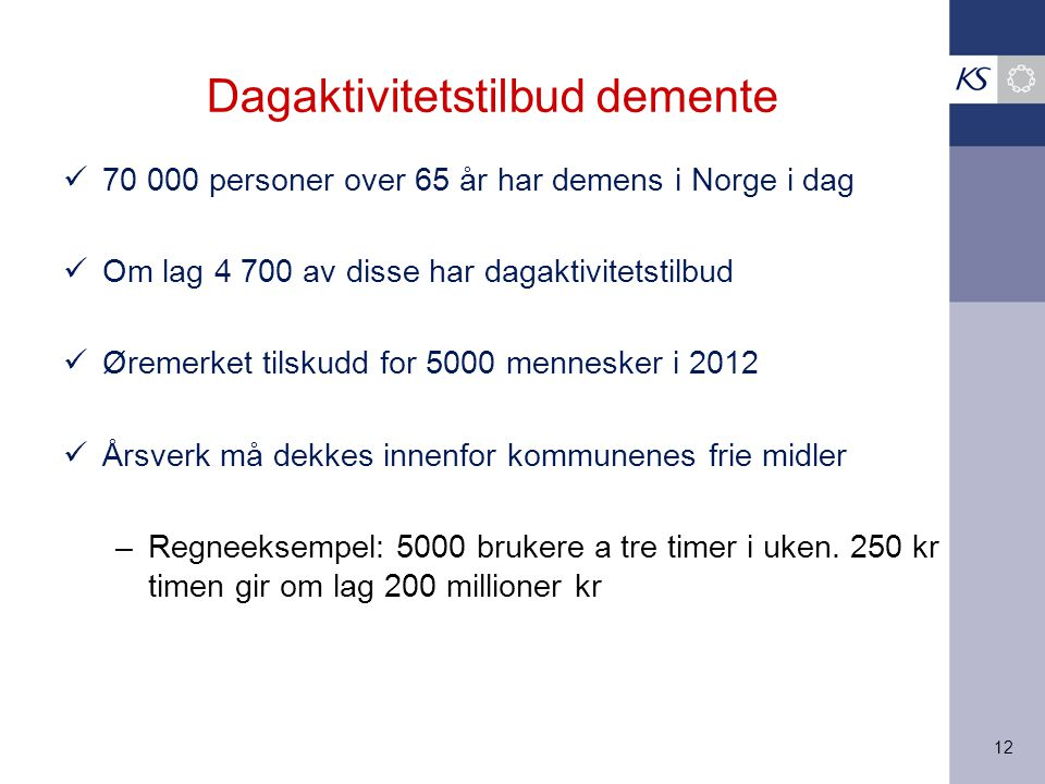 Dagaktivitetstilbud demente