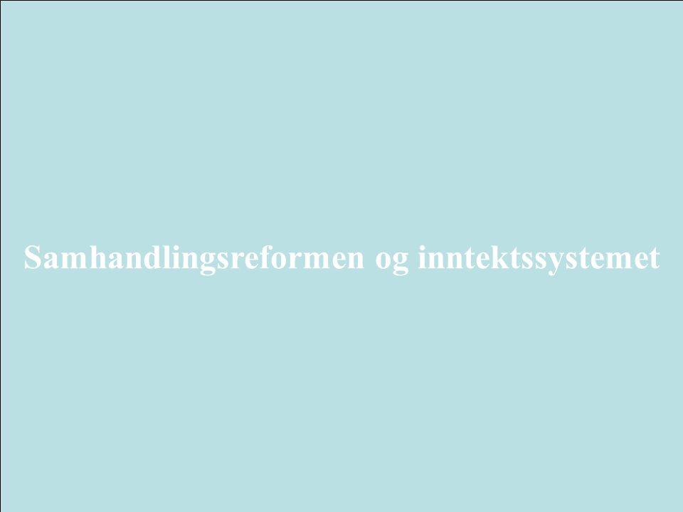 Samhandlingsreformen og inntektssystemet