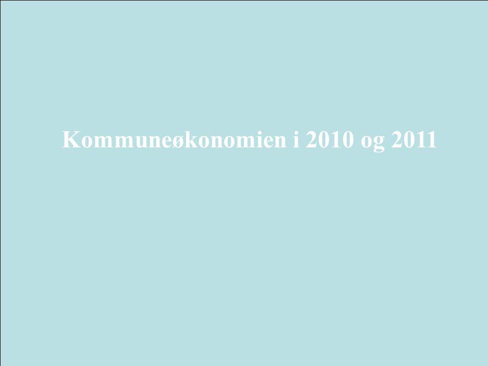Kommuneøkonomien i 2010 og 2011