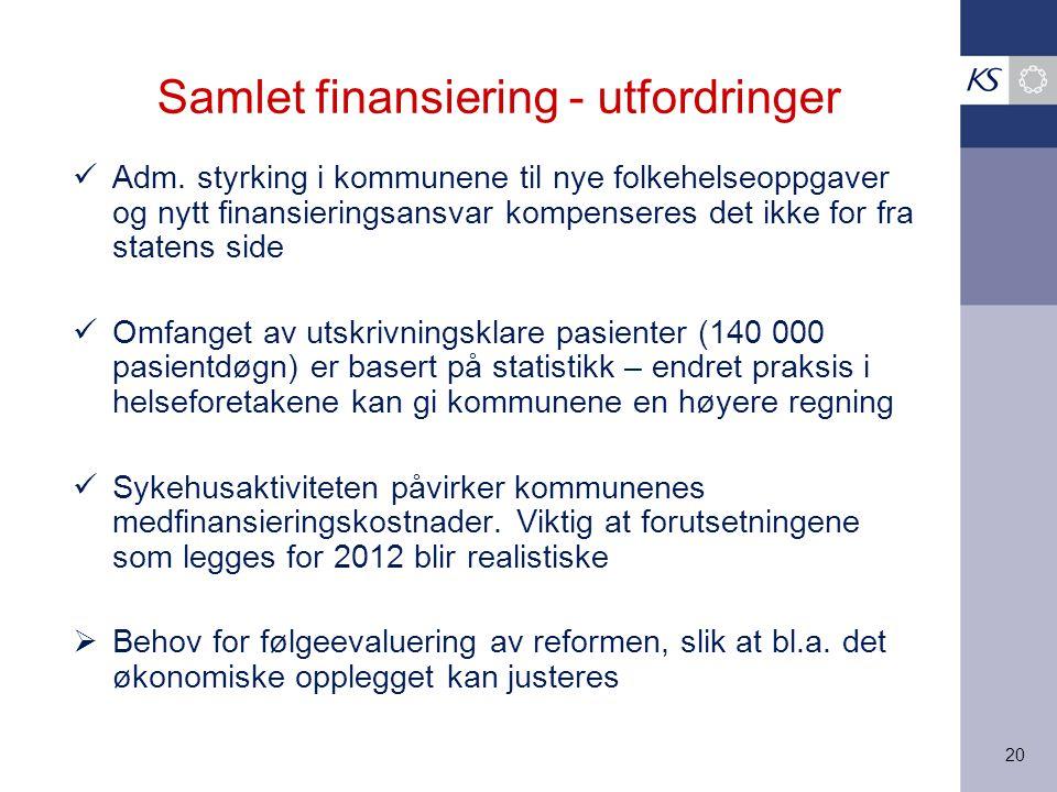 Samlet finansiering - utfordringer