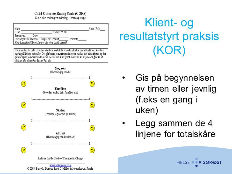 Klient- og resultatstyrt praksis (KOR)