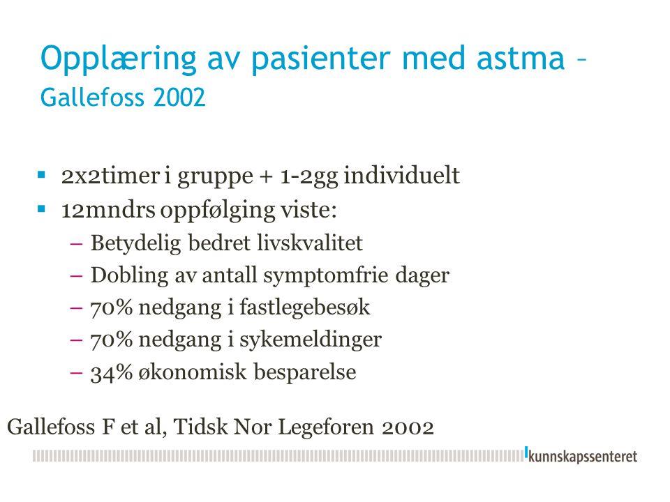 Opplæring av pasienter med astma – Gallefoss 2002