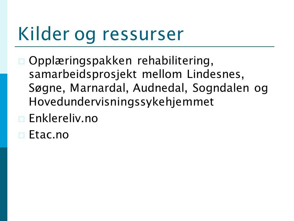 Kilder og ressurser