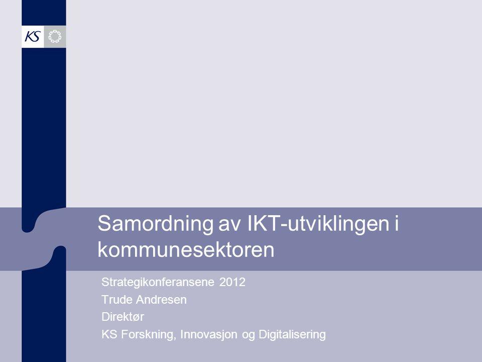 Samordning av IKT-utviklingen i kommunesektoren