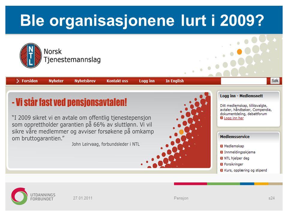 Ble organisasjonene lurt i 2009