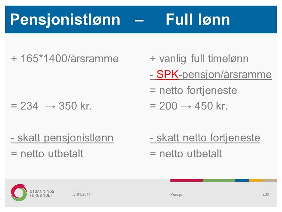 Pensjonistlønn – Full lønn