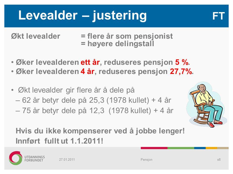 Levealder – justering FT