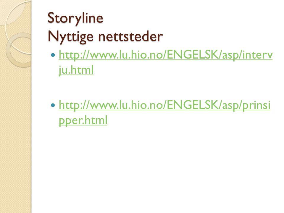 Storyline Nyttige nettsteder