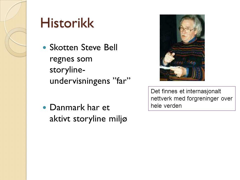 Historikk Skotten Steve Bell regnes som storyline- undervisningens far Danmark har et aktivt storyline miljø.