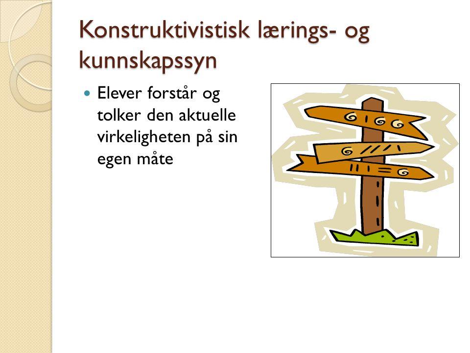 Konstruktivistisk lærings- og kunnskapssyn