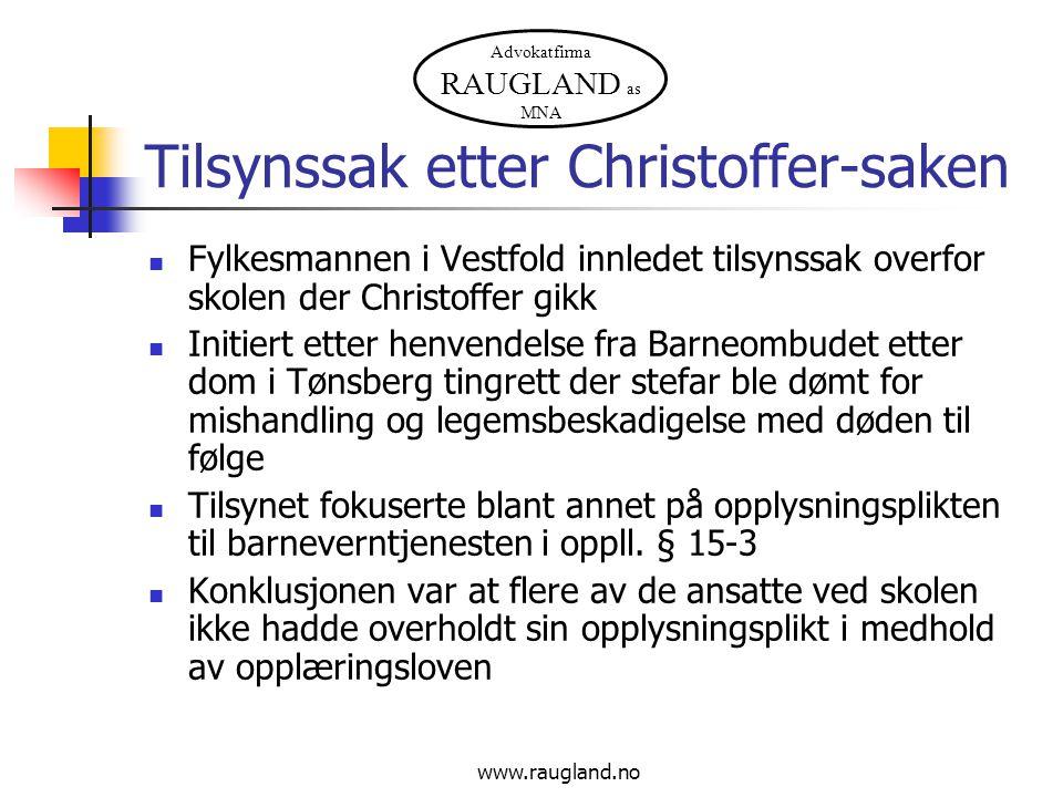 Tilsynssak etter Christoffer-saken