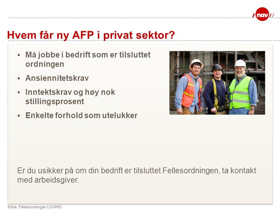 Hvem får ny AFP i privat sektor