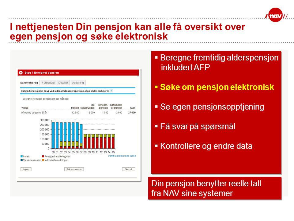 I nettjenesten Din pensjon kan alle få oversikt over egen pensjon og søke elektronisk