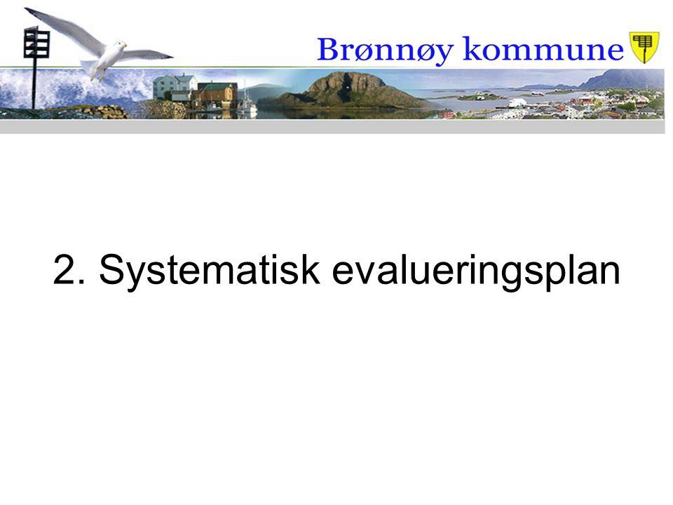 2. Systematisk evalueringsplan