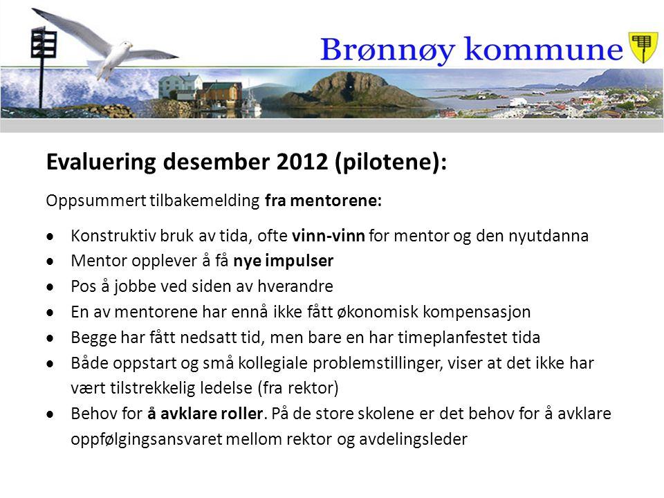 Evaluering desember 2012 (pilotene):