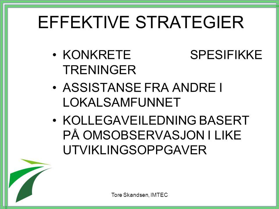 EFFEKTIVE STRATEGIER KONKRETE SPESIFIKKE TRENINGER