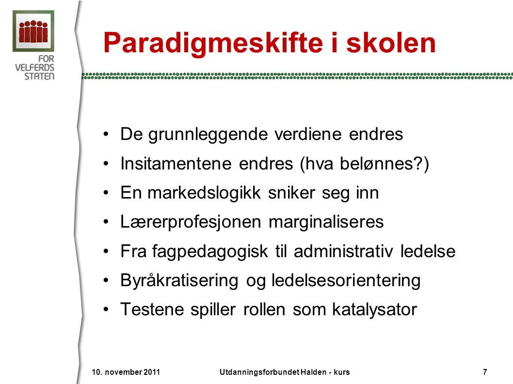 Paradigmeskifte i skolen