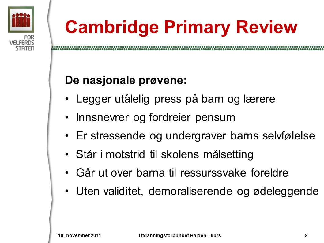 Cambridge Primary Review