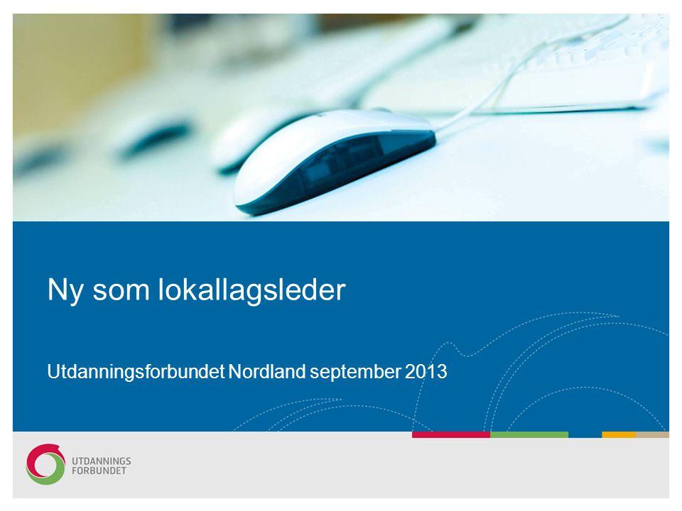 Utdanningsforbundet Nordland september 2013