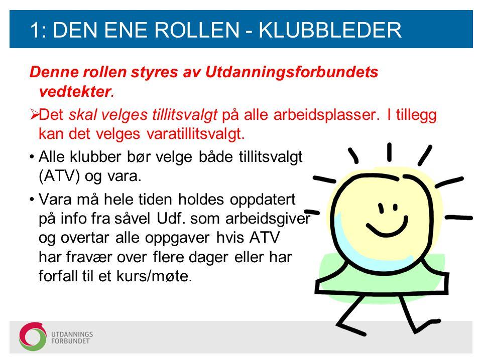 1: DEN ENE ROLLEN - KLUBBLEDER