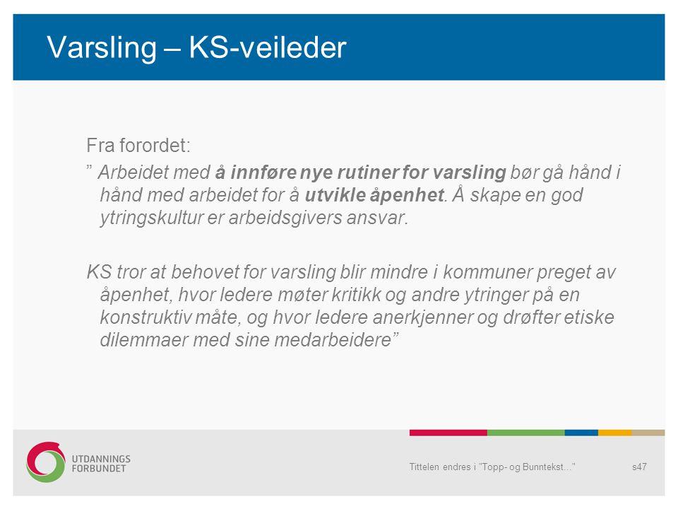 Varsling – KS-veileder