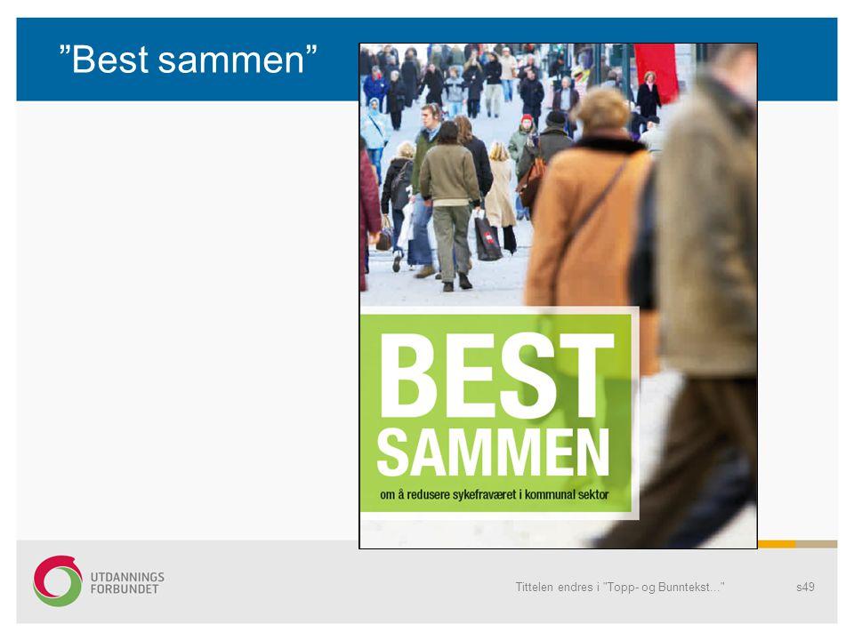 Best sammen Tittelen endres i Topp- og Bunntekst...