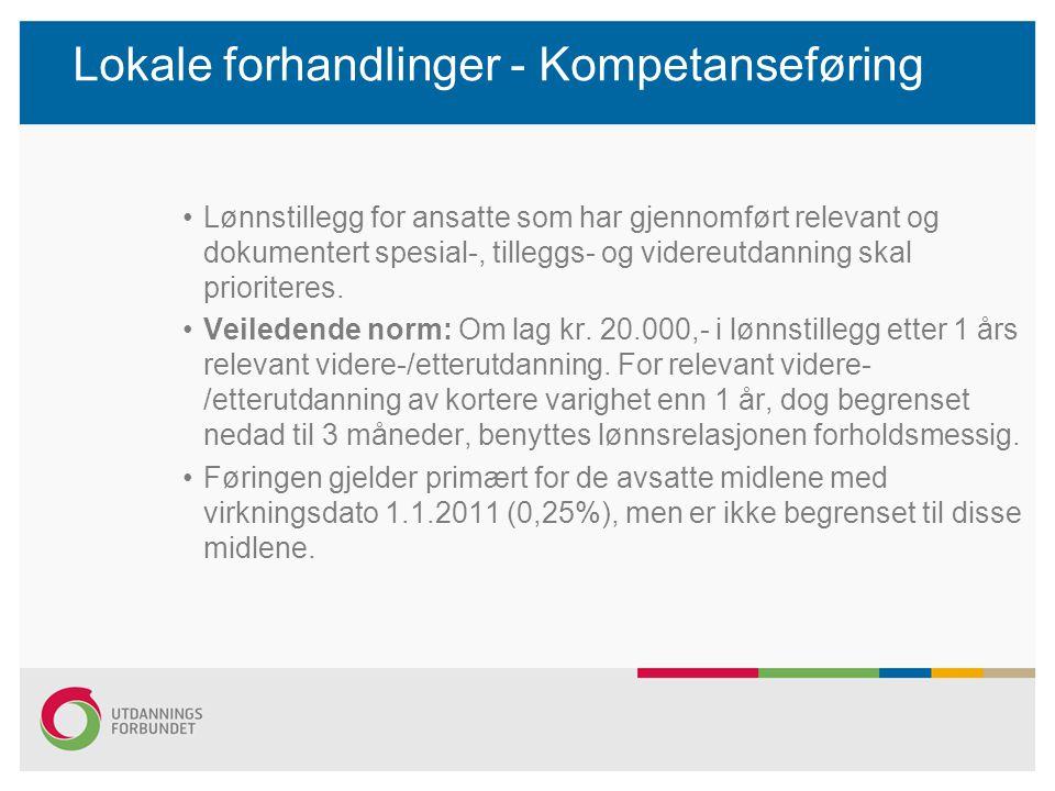 Lokale forhandlinger - Kompetanseføring