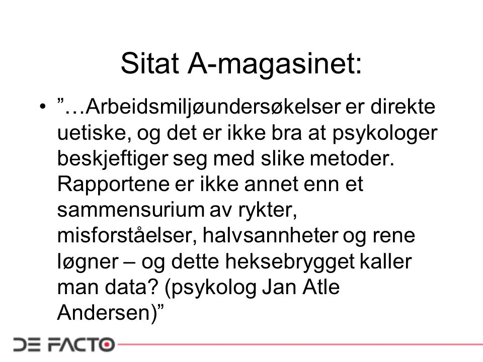 Sitat A-magasinet: