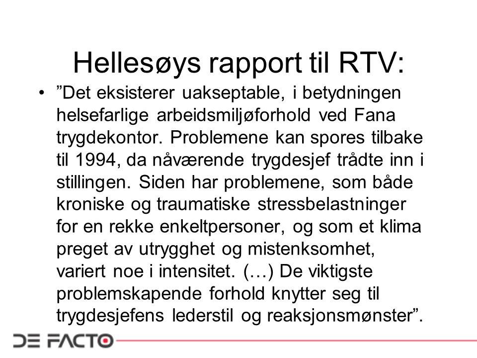 Hellesøys rapport til RTV: