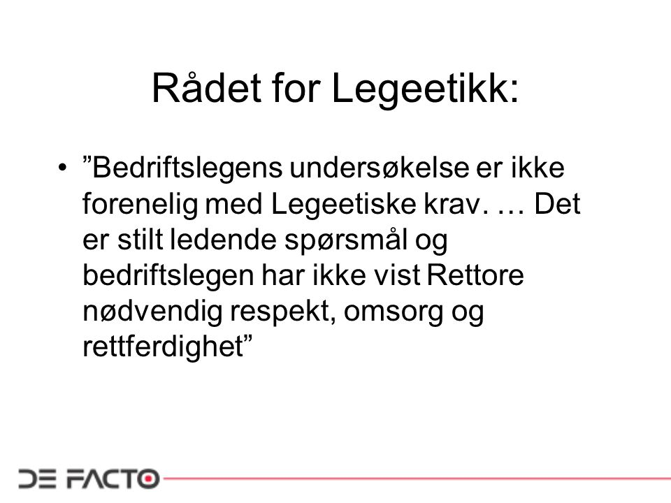 Rådet for Legeetikk: