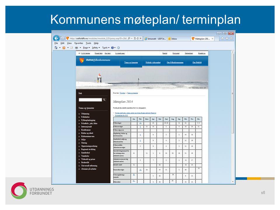 Kommunens møteplan/ terminplan