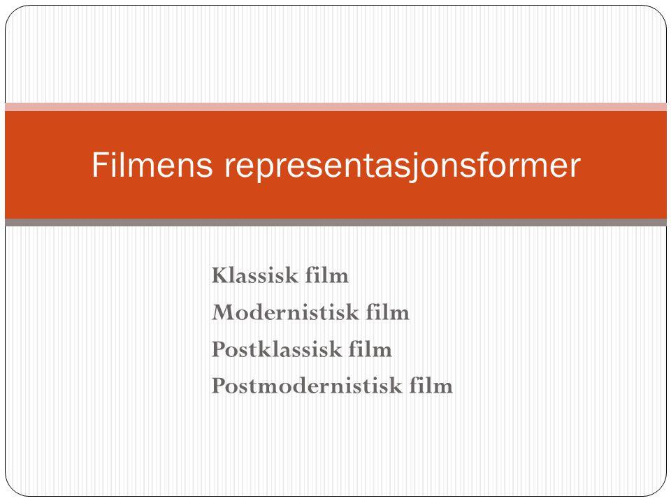 Filmens representasjonsformer