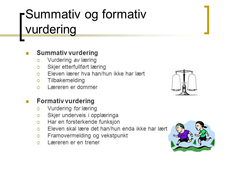 Summativ og formativ vurdering