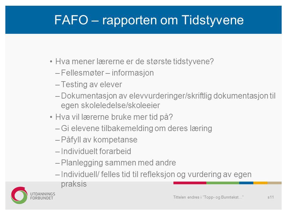 FAFO – rapporten om Tidstyvene