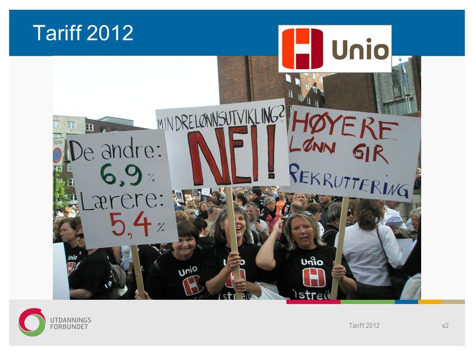 Tariff 2012 Tariff 2012