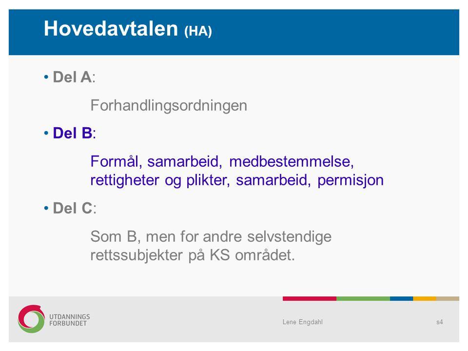 Hovedavtalen (HA) Del A: Forhandlingsordningen Del B: