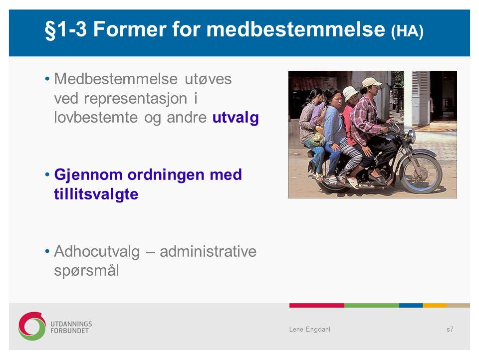 §1-3 Former for medbestemmelse (HA)