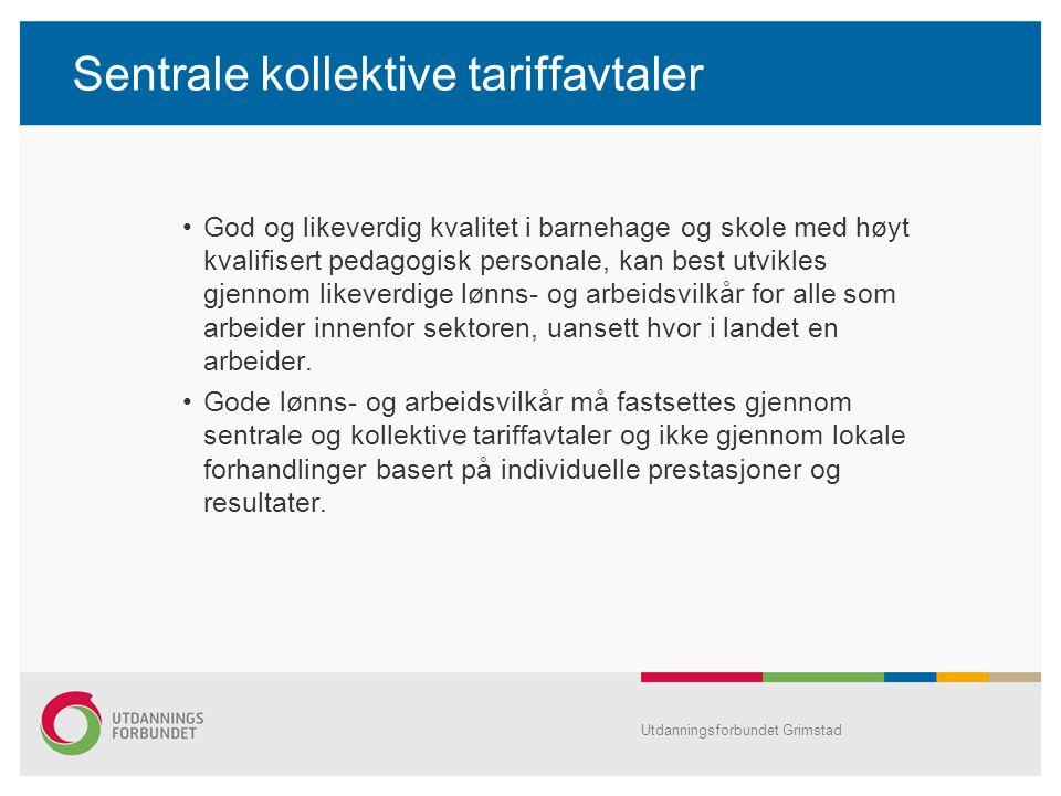 Sentrale kollektive tariffavtaler