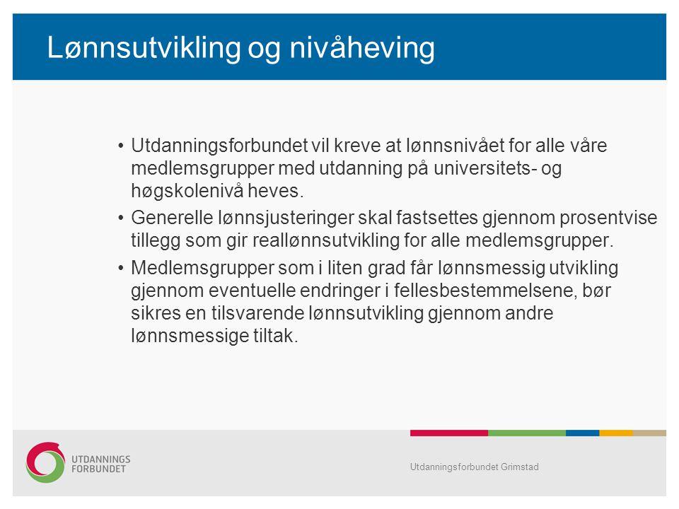 Lønnsutvikling og nivåheving