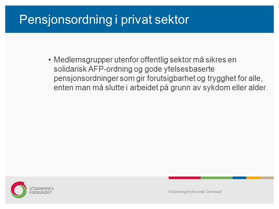 Pensjonsordning i privat sektor