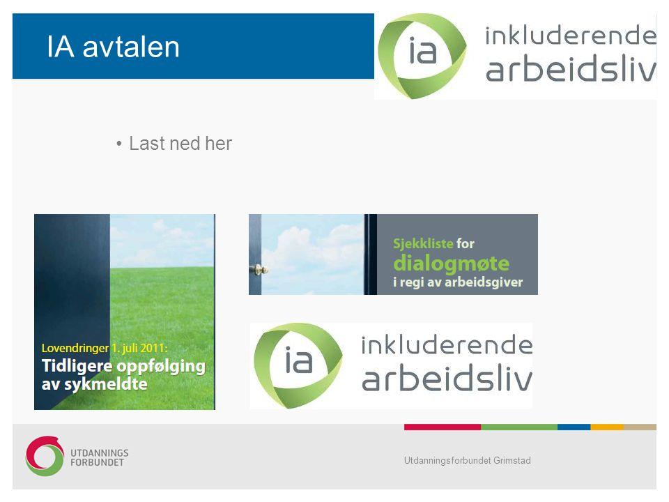 IA avtalen Last ned her Utdanningsforbundet Grimstad