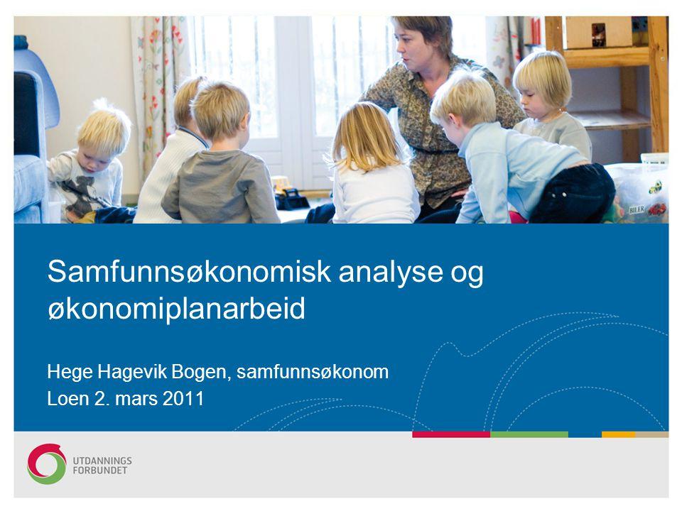 Samfunnsøkonomisk analyse og økonomiplanarbeid
