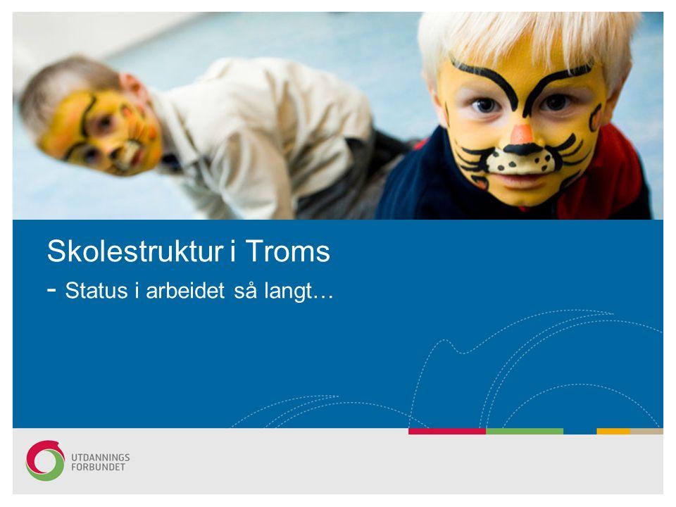 Skolestruktur i Troms - Status i arbeidet så langt…