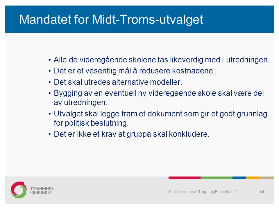 Mandatet for Midt-Troms-utvalget