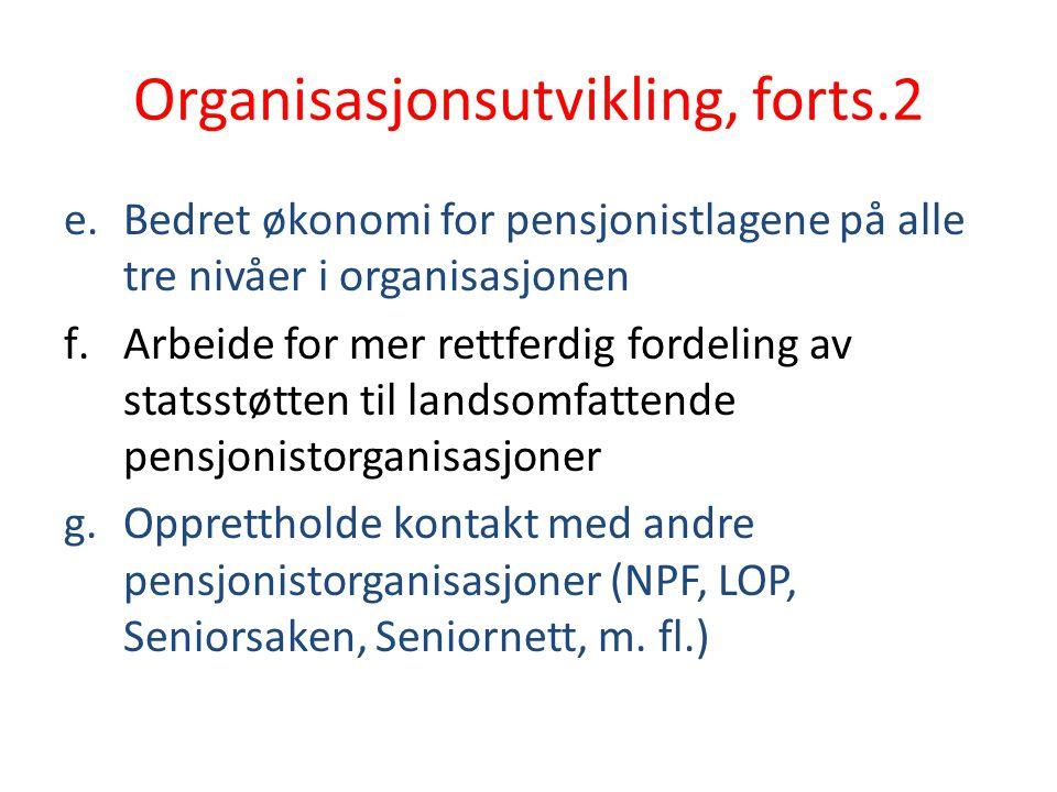 Organisasjonsutvikling, forts.2