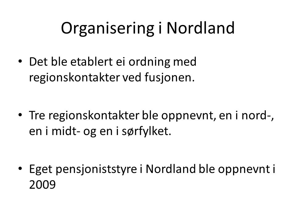 Organisering i Nordland