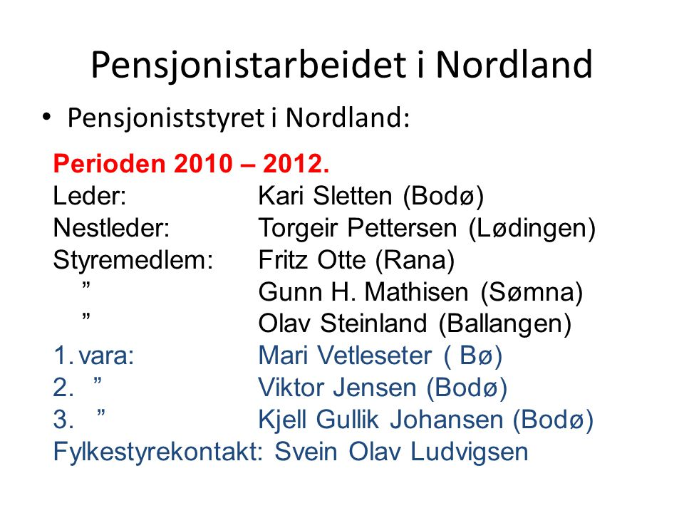Pensjonistarbeidet i Nordland