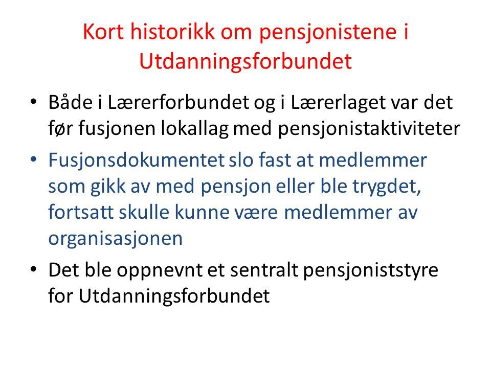 Kort historikk om pensjonistene i Utdanningsforbundet