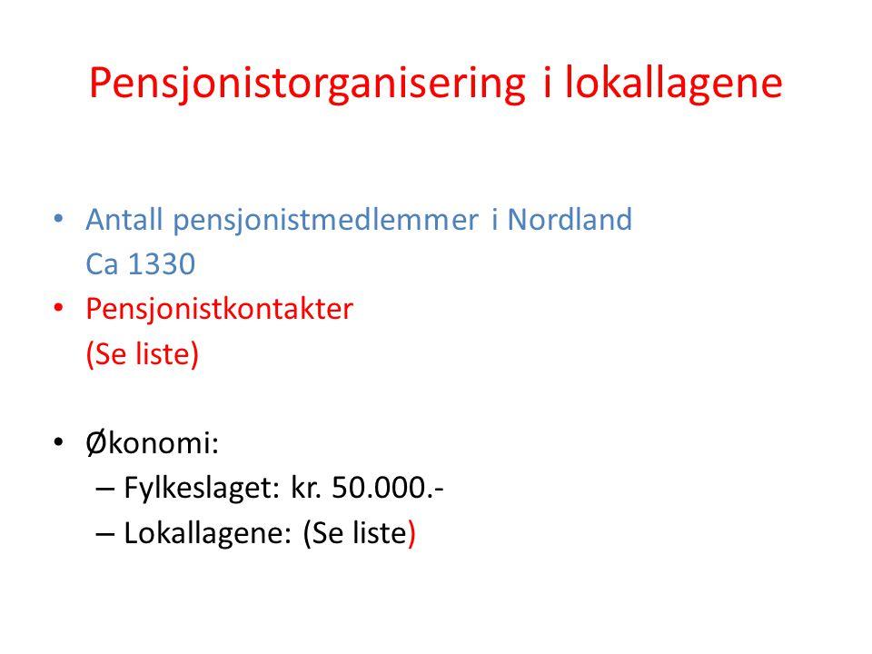 Pensjonistorganisering i lokallagene