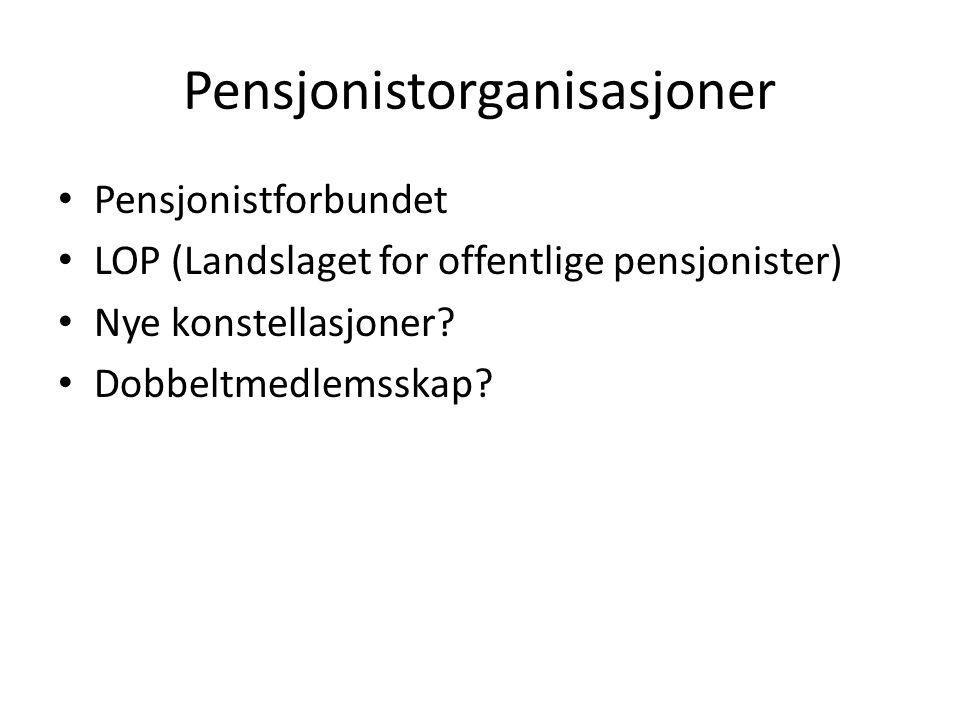 Pensjonistorganisasjoner